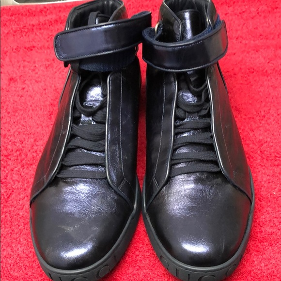 Gucci Other - Men's GUCCI leather high top sneakers Indigo.